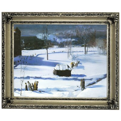 'Blue Snow, The Battery 1910' Framed Graphic Art Print on Canvas Size: 14