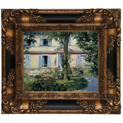 'The House at Rueil 1882' by Edouard Manet Framed Graphic Art Print on Canvas Size: 16.25