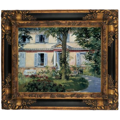 'The House at Rueil 1882' by Edouard Manet Framed Graphic Art Print on Canvas Size: 13.25