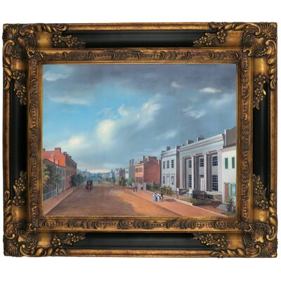 'Cincinnati Fourth Street East From Vine 1835' Framed Graphic Art Print on Canvas Size: 16.25