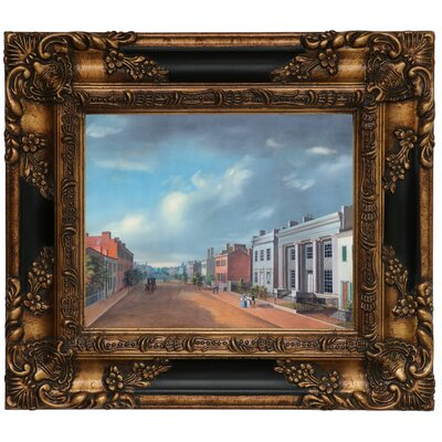 'Cincinnati Fourth Street East From Vine 1835' Framed Graphic Art Print on Canvas Size: 13.25