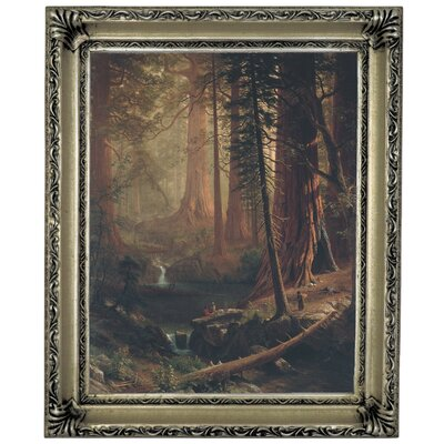 'Giant Redwood Trees of California 1874' Framed Graphic Art Print on Canvas Size: 13
