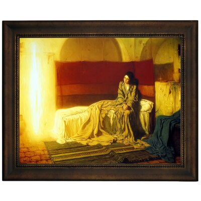 'The Annunciation' Framed Graphic Art Print on Canvas Size: 13.75