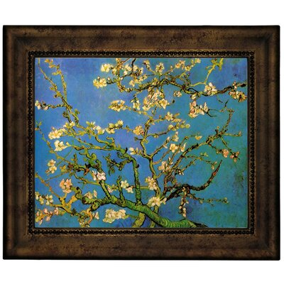 'Blossoming Almond Tree' by Vincent Van Gogh Framed Graphic Art Print on Canvas Size: 10.75