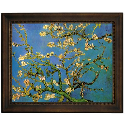 'Blossoming Almond Tree' by Vincent Van Gogh Framed Graphic Art Print on Canvas Size: 13.75