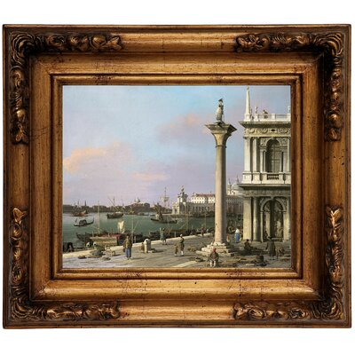 'Bacino di S Marco from the Piazzetta 1750' Framed Graphic Art Print on Canvas Size: 12.5
