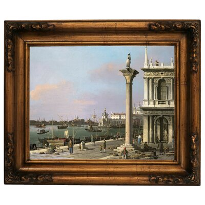 'Bacino di S Marco from the Piazzetta 1750' Framed Graphic Art Print on Canvas Size: 15.5