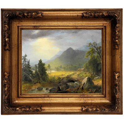 'The First Harvest in the Wilderness 1855' Framed Graphic Art Print on Canvas Size: 12.5