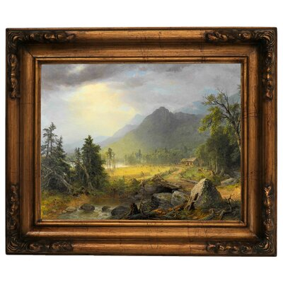 'The First Harvest in the Wilderness 1855' Framed Graphic Art Print on Canvas Size: 15.5