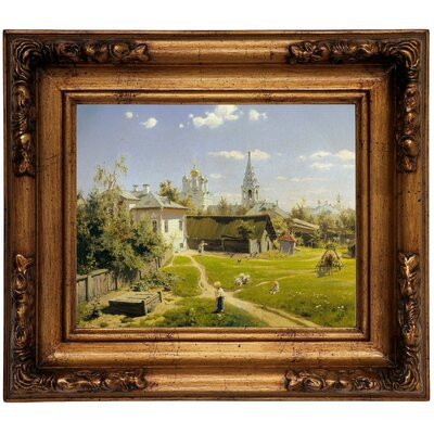 'Moscow patio 1878' Framed Graphic Art Print on Canvas Size: 10.75