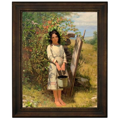 'Blackberry Picking 1875' Framed Graphic Art Print on Canvas Size: 16.75