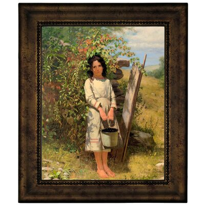'Blackberry Picking 1875' Framed Graphic Art Print on Canvas Size: 12.75