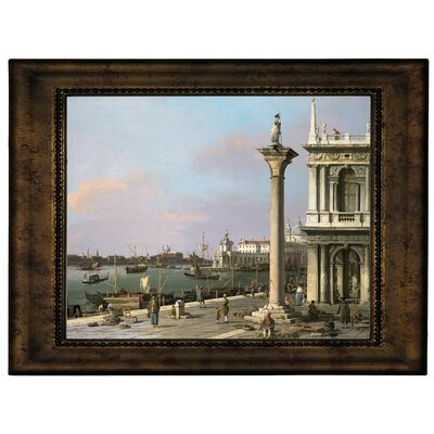 'Bacino di S Marco from the Piazzetta 1750' Framed Graphic Art Print on Canvas Size: 10.75