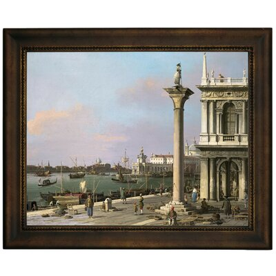 'Bacino di S Marco from the Piazzetta 1750' Framed Graphic Art Print on Canvas Size: 13.75