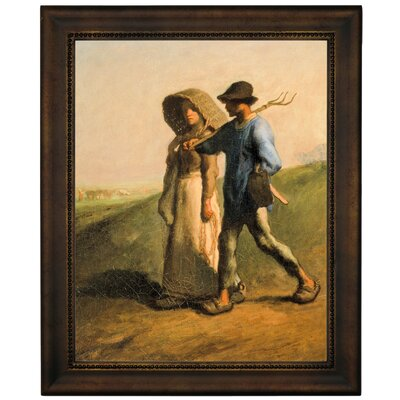 'Going to Work 1851' Framed Graphic Art Print on Canvas Size: 12.75