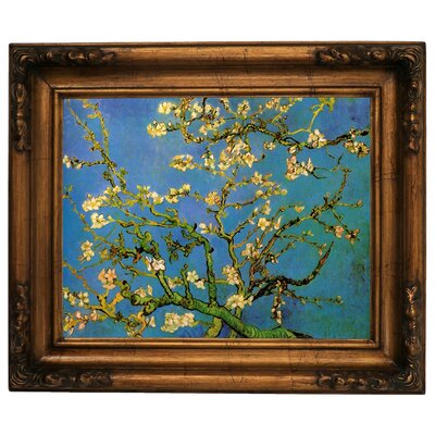 'Blossoming Almond Tree' by Vincent Van Gogh Framed Graphic Art Print on Canvas Size: 15.5