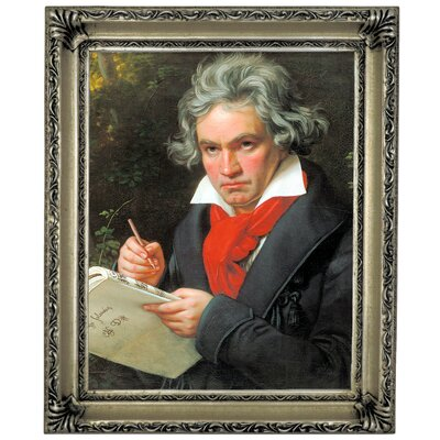 'Portrait of Ludwig van Beethoven When Composing the Missa Solemnis' Framed Graphic Art Print on Canvas Size: 17