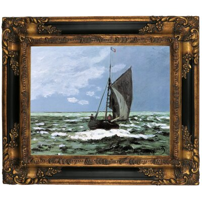 'Storm' by Claude Monet Framed Graphic Art Print on Canvas Size: 25.25