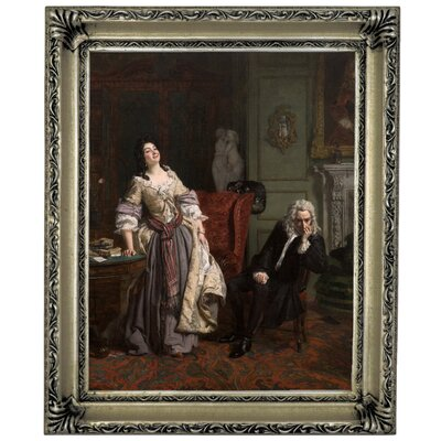 'Pope Makes Love to Lady Mary Wortley Montagu 1852' Framed Graphic Art Print on Canvas Size: 17