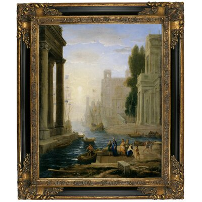 'Embarkation of St Paula' Framed Graphic Art Print on Canvas Size: 25.25
