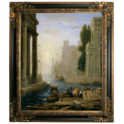 'Embarkation of St Paula' Framed Graphic Art Print on Canvas Size: 29.25