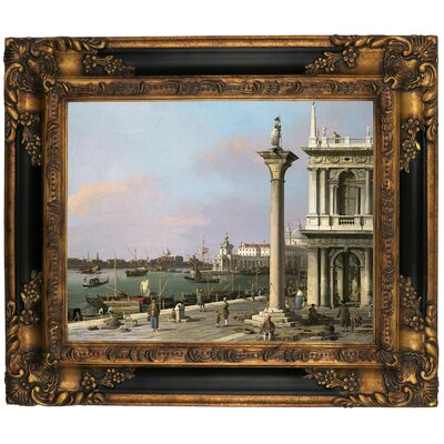 'Bacino di S Marco from the Piazzetta 1750' Framed Graphic Art Print on Canvas Size: 16.25