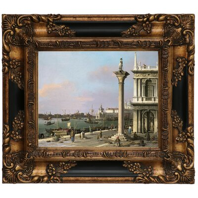 'Bacino di S Marco from the Piazzetta 1750' Framed Graphic Art Print on Canvas Size: 13.25