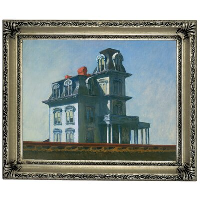 'The House' by Edward Hopper Framed Graphic Art Print on Canvas Size: 11
