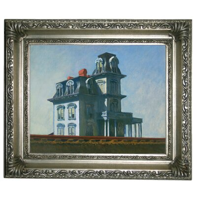 'The House' by Edward Hopper Framed Graphic Art Print on Canvas Size: 14