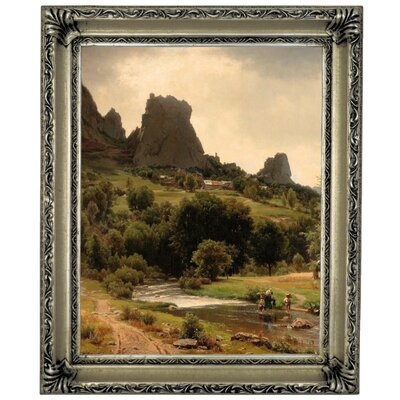 'Summer Flowers View of Kallenfels 1853' Framed Graphic Art Print on Canvas Size: 13