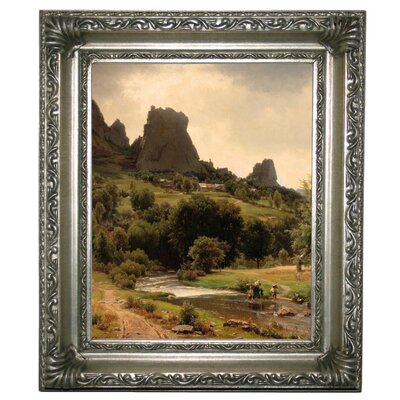 'Summer Flowers View of Kallenfels 1853' Framed Graphic Art Print on Canvas Size: 17