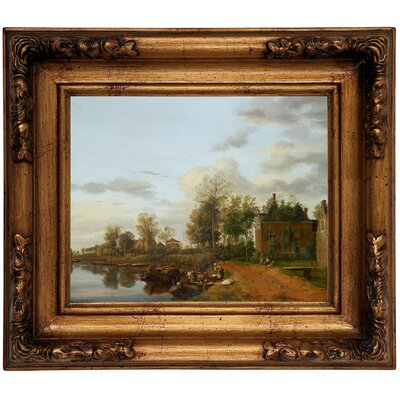 'Country House on the Vliet near Delft 1665' Framed Graphic Art Print on Canvas Size: 12.5
