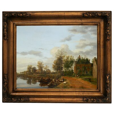 'Country House on the Vliet near Delft 1665' Framed Graphic Art Print on Canvas Size: 15.5
