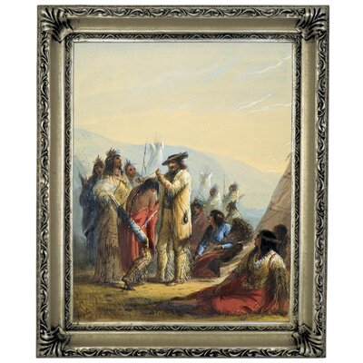 'Presents to Indians 1858' Graphic Art Print on Canvas Size: 17