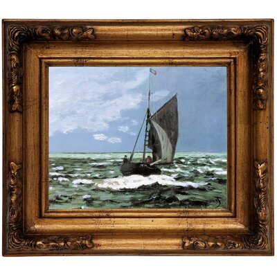 'Storm' by Claude Monet Framed Graphic Art Print on Canvas Size: 12.5