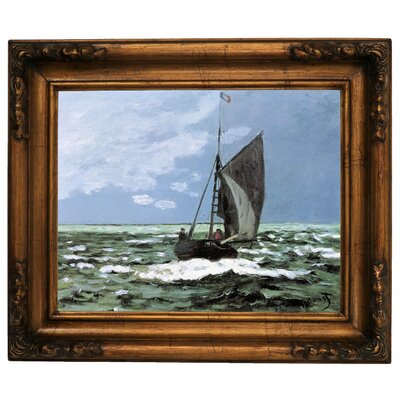 'Storm' by Claude Monet Framed Graphic Art Print on Canvas Size: 15.5