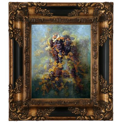 'Grapes and Architecture 1907' Framed Graphic Art Print on Canvas Size: 15.25