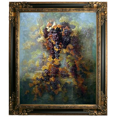 'Grapes and Architecture 1907' Framed Graphic Art Print on Canvas Size: 19.25