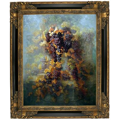 'Grapes and Architecture 1907' Framed Graphic Art Print on Canvas Size: 25.25