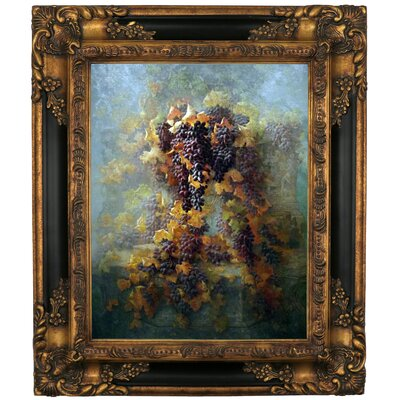 'Grapes and Architecture 1907' Framed Graphic Art Print on Canvas Size: 29.25