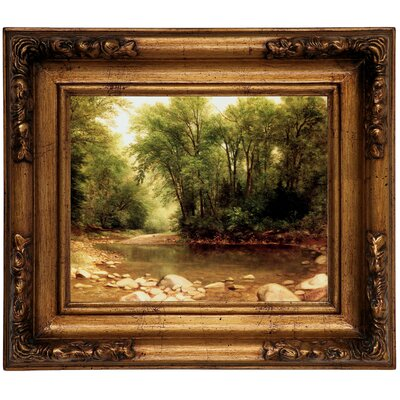 'Landscape 1867' Framed Graphic Art Print on Canvas Format: Gold Frame, Size: 12.5