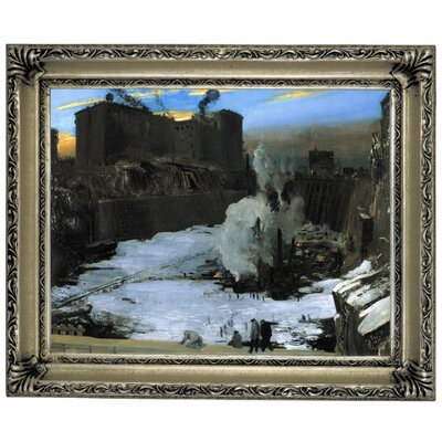 'Pennsylvania Station Excavation 1907-1908' Framed Graphic Art Print on Canvas Size: 14