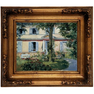 'The House at Rueil 1882' by Edouard Manet Framed Graphic Art Print on Canvas Size: 12.5
