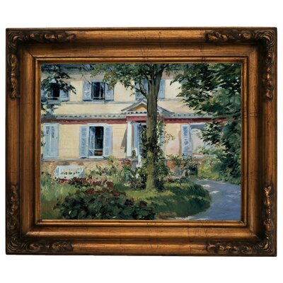 'The House at Rueil 1882' by Edouard Manet Framed Graphic Art Print on Canvas Size: 15.5