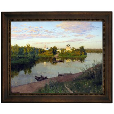 'The Evening Bells Ringing 1892' Framed Graphic Art Print on Canvas Size: 13.75
