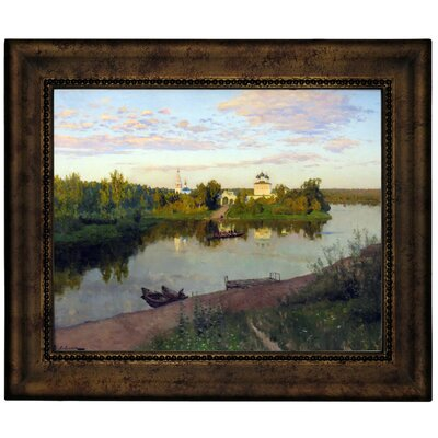 'The Evening Bells Ringing 1892' Framed Graphic Art Print on Canvas Size: 10.75