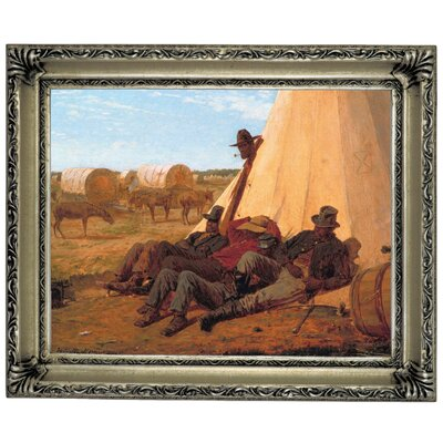 'The Bright Side 1865' by Winslow Homer Framed Graphic Art Print on Canvas Size: 14