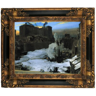 'Pennsylvania Station Excavation 1907-1908' Framed Graphic Art Print on Canvas Size: 16.25