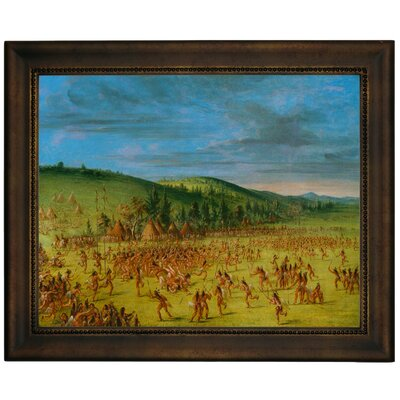 'Ball Play of the Choctaw Ball Up 1846' Framed Graphic Art Print on Canvas Size: 13.75