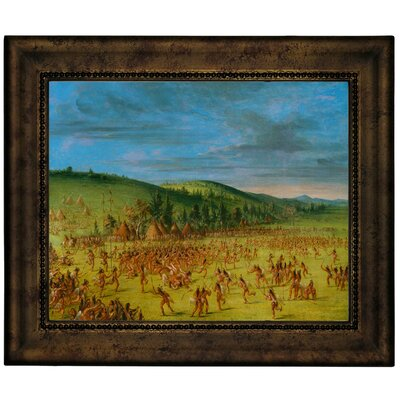 'Ball Play of the Choctaw Ball Up 1846' Framed Graphic Art Print on Canvas Size: 10.75